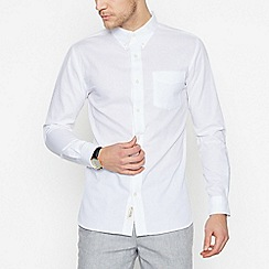 Hammond & Co. by Patrick Grant - White Textured Long Sleeve Regular Fit Shirt