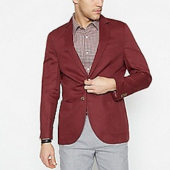Hammond & Co. by Patrick Grant - Big and tall red 'Havana' blazer with linen
