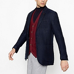 Hammond & Co. by Patrick Grant - Big and tall navy textured linen blazer