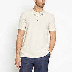 Hammond & Co. by Patrick Grant - Natural Moss Stitch Knitted Polo Shirt