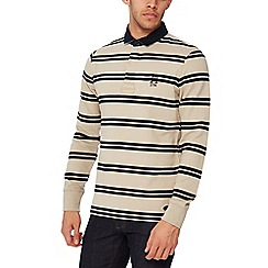 Hammond & Co. by Patrick Grant - Big and tall navy striped twill rugby top