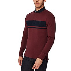 Hammond & Co. by Patrick Grant - Maroon striped twill rugby top