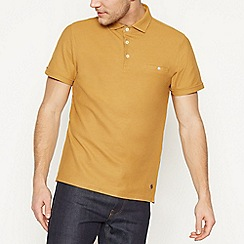 Hammond & Co. by Patrick Grant - Gold Honeycomb Texture Cotton Polo Shirt
