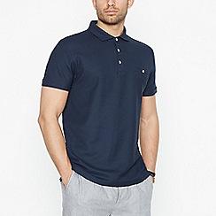 Hammond & Co. by Patrick Grant - Navy Honeycomb Texture Polo Shirt