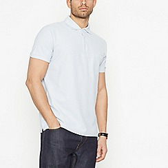 Hammond & Co. by Patrick Grant - Pale Blue Honeycomb Texture Polo Shirt