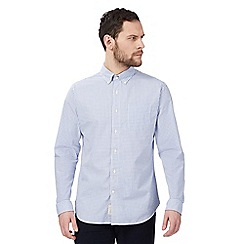 Hammond & Co. by Patrick Grant - Big and tall blue gingham print button down shirt