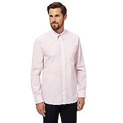 Hammond & Co. by Patrick Grant - Big and tall light pink puppytooth long sleeved shirt