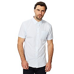 Hammond & Co. by Patrick Grant - Big and tall light blue gingham print shirt