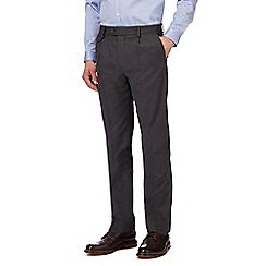 Hammond & Co. by Patrick Grant - Grey textured tailored fit trousers