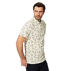 Hammond & Co. by Patrick Grant - Big and tall cream pineapple print polo shirt
