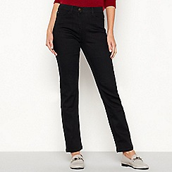 The Collection - Black mid rise straight jeans