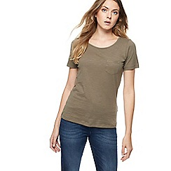 The Collection - Khaki slub t-shirt