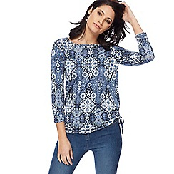 The Collection - Blue tile print top