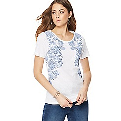 The Collection - White and blue paisley print t-shirt