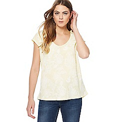 The Collection - Light yellow floral top