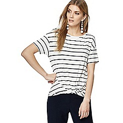 The Collection - Ivory striped top
