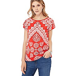 The Collection - Red diamante print top