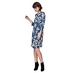 The Collection - Blue floral print knee length dress