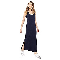 The Collection - Navy scoop neck sleeveless full length dress
