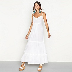 The Collection - White tiered V-neck maxi dress