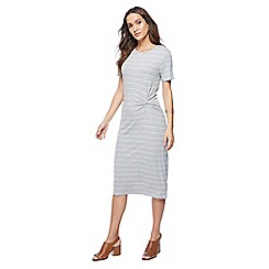 The Collection - Grey striped midi dress