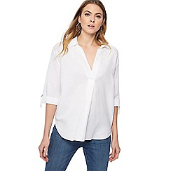 The Collection - White linen blend shirt