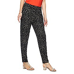 The Collection - Black printed harem trousers
