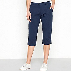 The Collection - Navy cropped chinos