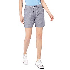 The Collection - Blue linen blend regular fit shorts