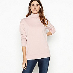 The Collection - Pink longline cowl neck jumper