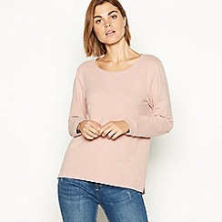 The Collection - Rose soft touch cotton blend sweatshirt