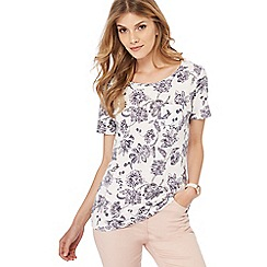 The Collection - Grey floral print t-shirt