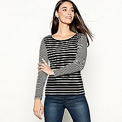 The Collection - Black mixed stripe long sleeves top