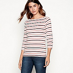 The Collection - Wine stripe print top