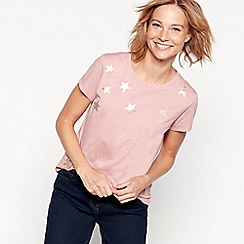 The Collection - Pink star print cotton blend t-shirt