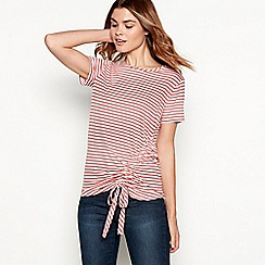 The Collection - Rose stripe print ruched side modal blend t-shirt