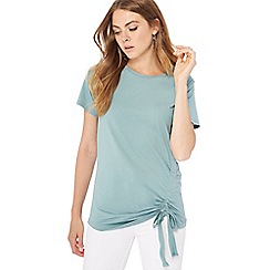 The Collection - Pale green ruched side modal blend t-shirt