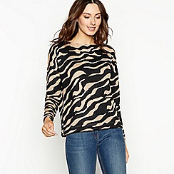 The Collection - Natural zebra print dolman top