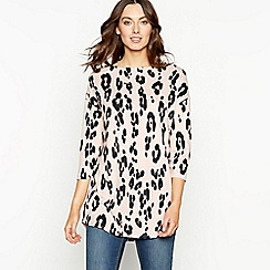 The Collection - Light pink animal print tunic top