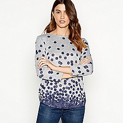 The Collection - Blue placement spot print sweater top