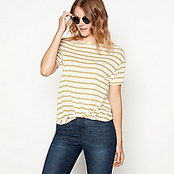 The Collection - Yellow stripe print knit t-shirt
