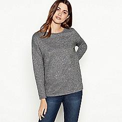 The Collection - Grey diamante yoke jumper
