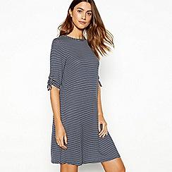 The Collection - Blue stripe print round neck short sleeve mini dress