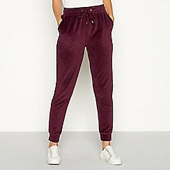 The Collection - Wine red velour joggers