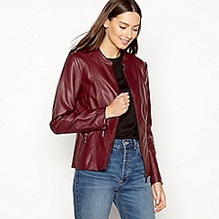 The Collection - Wine collarless jacket