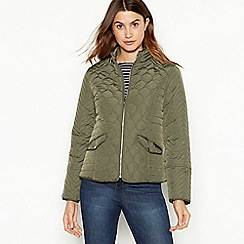 The Collection - Green quilted jacket