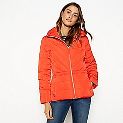The Collection - Orange padded hooded jacket