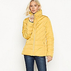 The Collection - Light gold padded hooded jacket