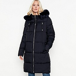 The Collection - Navy padded longline coat