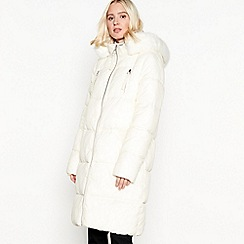 9d3aea42eb2c0 The Collection - White padded longline coat